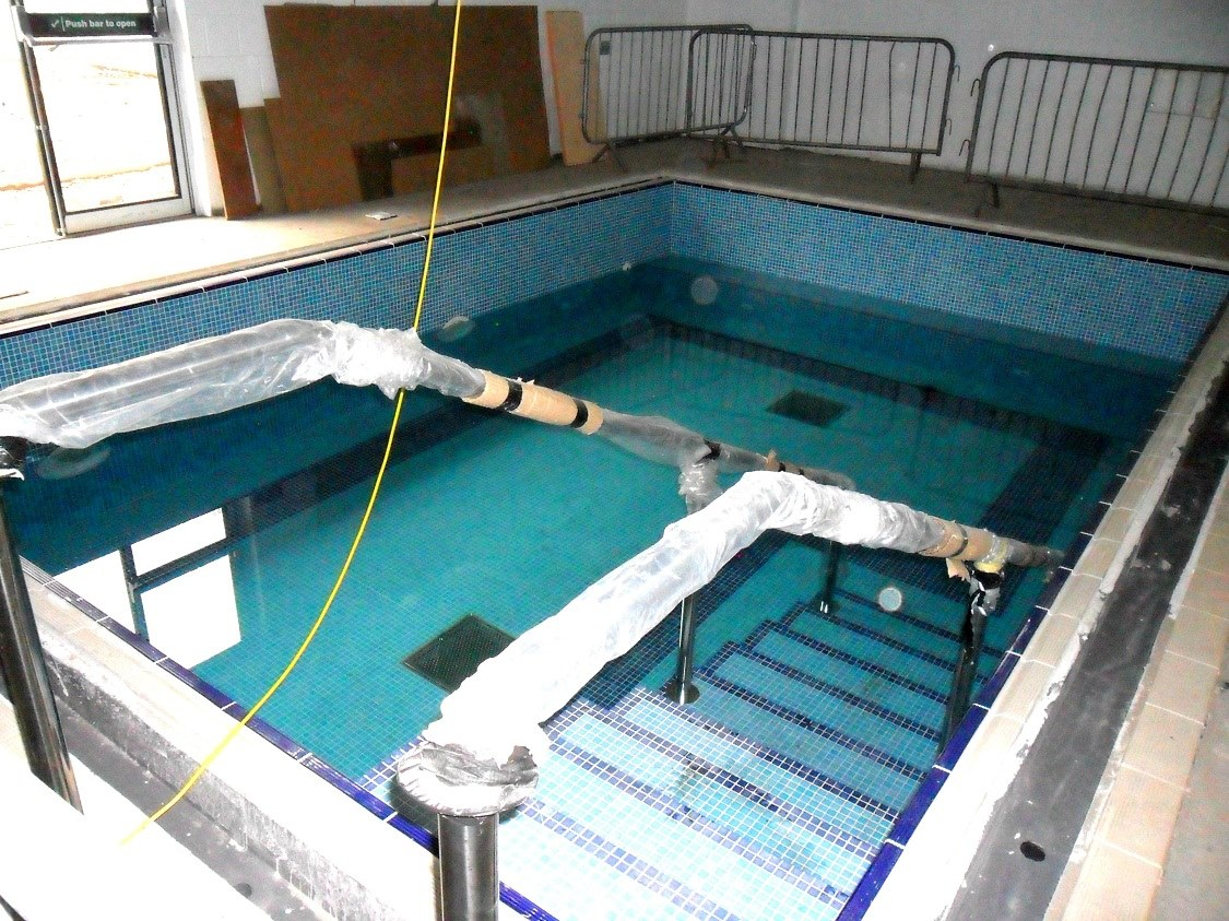 New pools watertight at castlebrae for Hydroponic pool