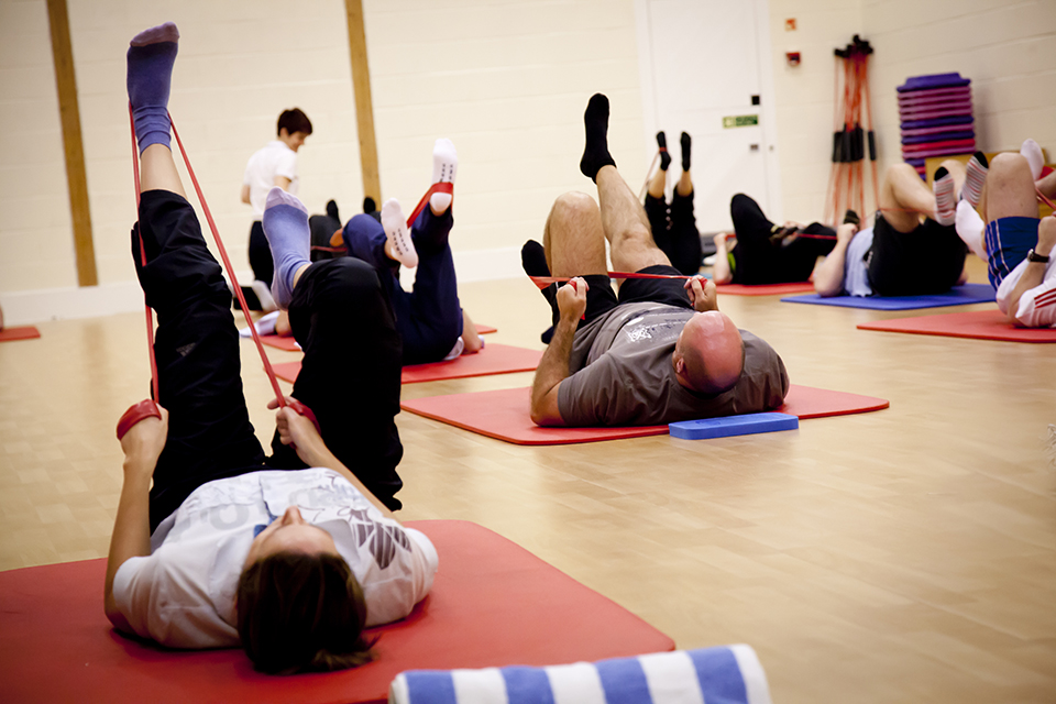 Exercise classes and equipment